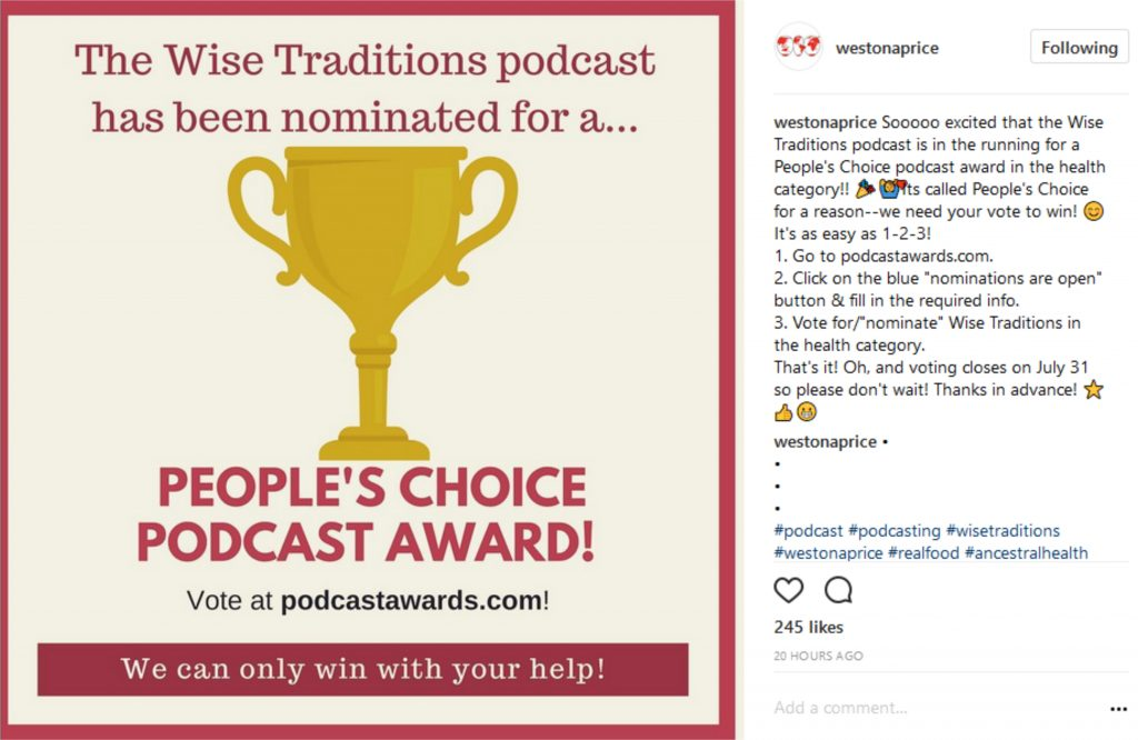 Peoples Choice Podcast Award